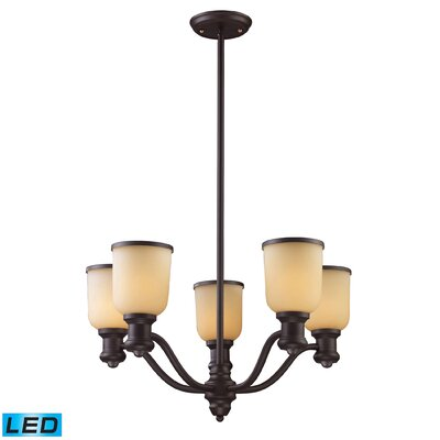 Claflin 5-Light Shaded Chandelier