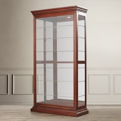 Goldenberg Lighted Curio Cabinet Color: Candlelight Cherry