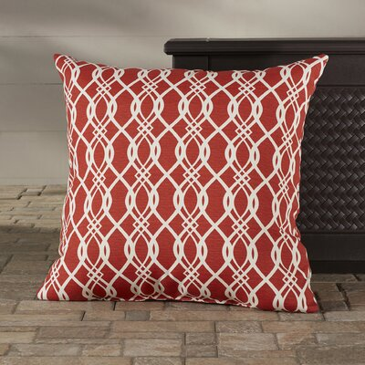 Valier Outdoor Floor Pillow Color: Red