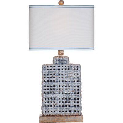 Prentice 30 Table Lamp Base Color: Blue/Grey
