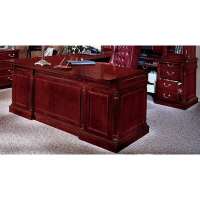Executive Desk with Center Drawer Orientation: Right, Size: 30