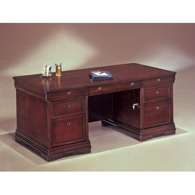 Knickerbocker Executive Desk Size: 30 H x 66 W x 36 D