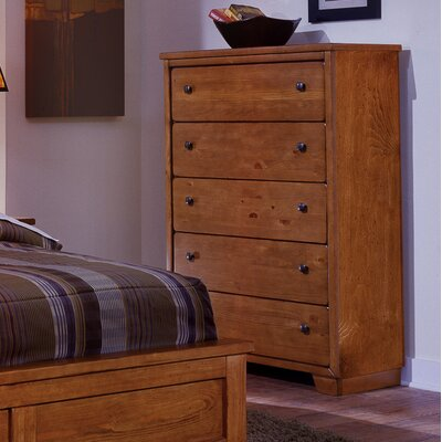 Sumner 5 Drawer Chest Color: Brown