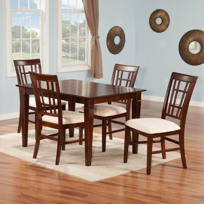 Bluffview 5 Piece Dining Set Finish: Antique Walnut