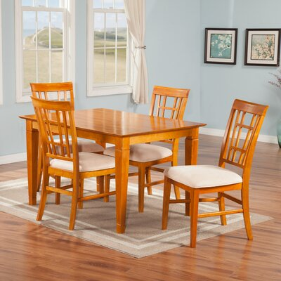 Bluffview 5 Piece Dining Set Finish: Caramel Latte