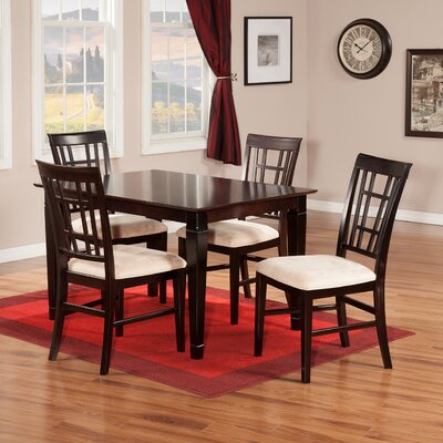 Bluffview 5 Piece Dining Set Finish: Espresso