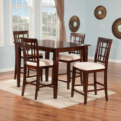 Bluffview 5 Piece Pub Table Set Color: Antique Walnut