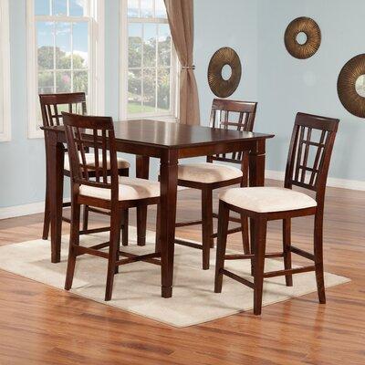 Bluffview 5 Piece Pub Table Set Finish: Antique Walnut