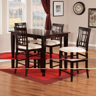 Bluffview 5 Piece Pub Table Set Finish: Espresso