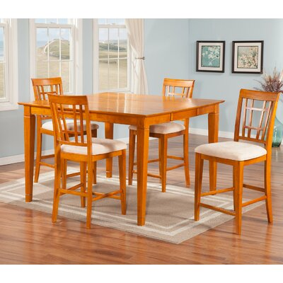 Bluffview 5 Piece Pub Table Set Finish: Caramel Latte