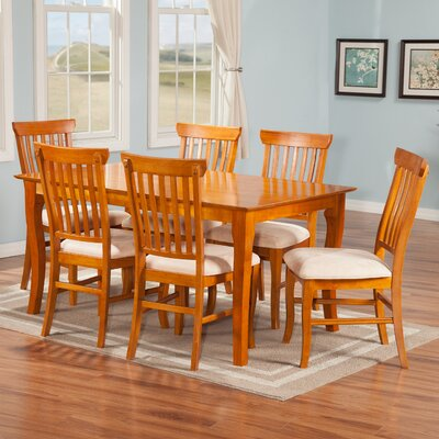 Newry 7 Piece Dining Set Finish: Caramel Latte
