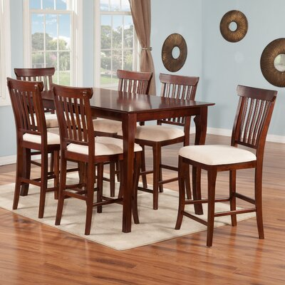 Newry 7 Piece Pub Table Set Finish: Antique Walnut