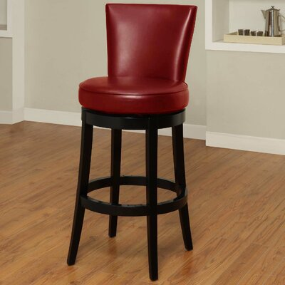 Thornhill 26 inch Swivel Bar Stool Upholstery: Red
