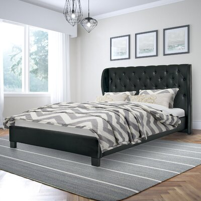 Debord Upholstered Platform Bed Size: Queen, Upholstery: Black