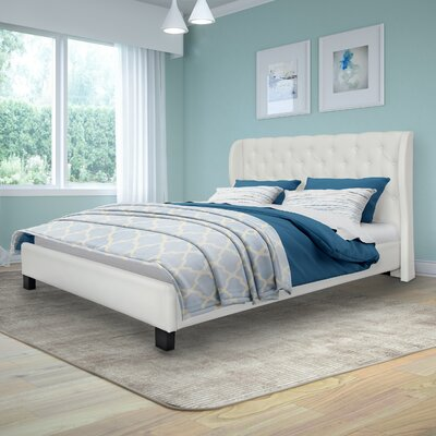 Debord Upholstered Platform Bed Size: Queen, Upholstery: White