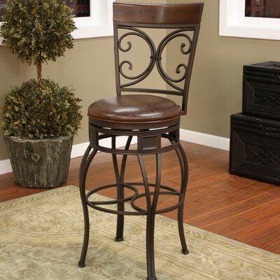 Matherville 34 Swivel Bar Stool