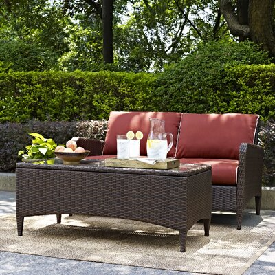 Mosca Traditional 2 Piece Deep Seating Group with Cushion WRMG2004 41888087