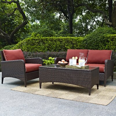 Boller 3 Piece Deep Seating Group with Cushion
