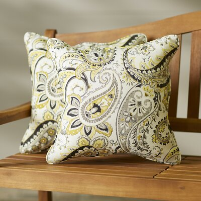 Cribbs Paisley Indoor/Outdoor Lumbar Pillow Set Size: 22 H x 22 W