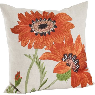 Millsaps Embroidered Throw Pillow Color: Orange