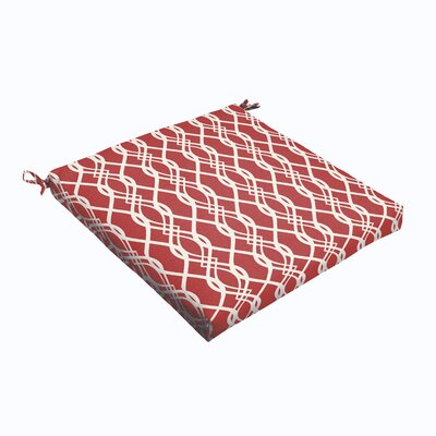 Byron Outdoor Dining Chair Cushion Size: 19 L x 19 W, Fabric: Red