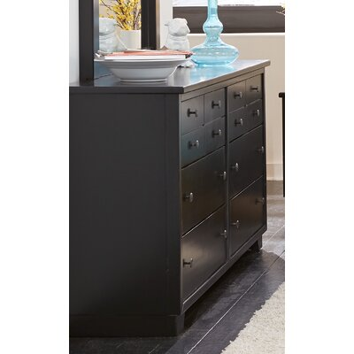 Sumner 12 Drawers Standard Dresser Color: Black