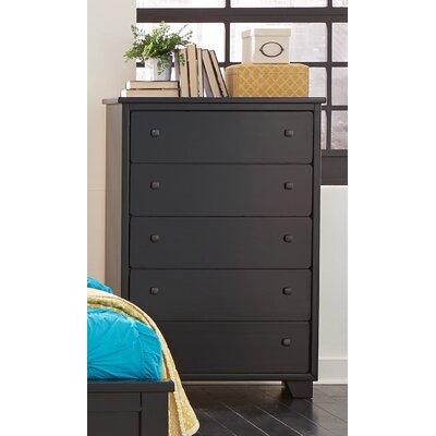 Sumner 5 Drawers Chest Color: Black