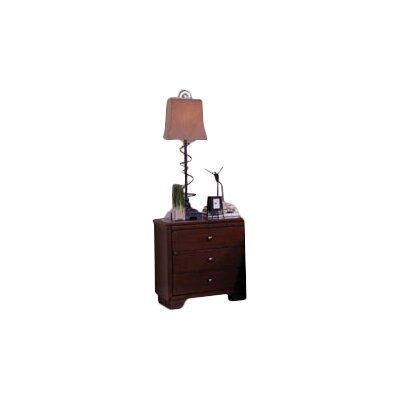 Loughran 3 Drawer Nightstand Color: Espresso