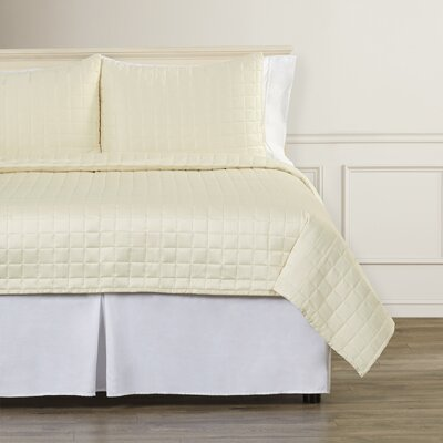 Kissinger Quilt Set Size: Twin, Color: Cream