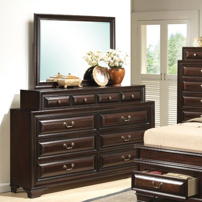Edwardsville 10 Drawer Dresser Color: Cappuccino