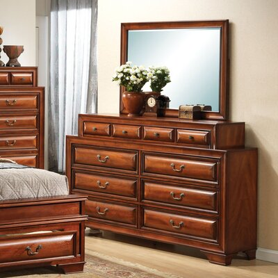 Edwardsville 10 Drawer Dresser and Mirror