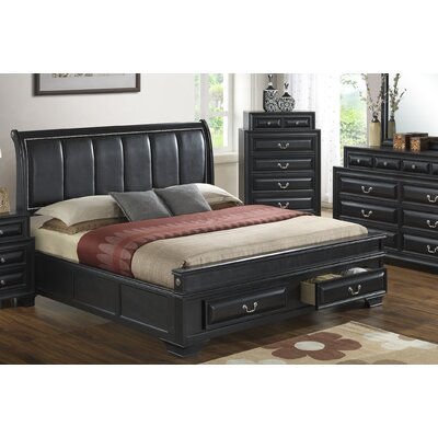Edwardsville Upholstered Storage Platform Bed Size: Queen, Color: Black