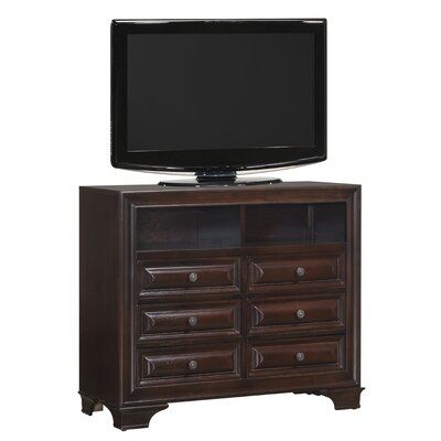 Edwardsville 6 Drawer Media Chest Color: Cappuccino