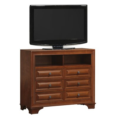 Edwardsville 6 Drawer Media Chest Color: Oak
