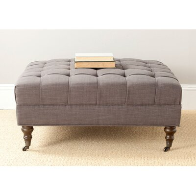 Holsey Cocktail Ottoman Color: Charcoal Brown