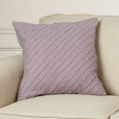 Zurich Linen Throw Pillow Size: 22 H x 22 W x 4 D, Color: Mauve