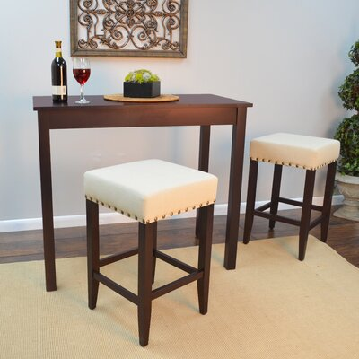 Stafford 3 Piece Pub Table Set Finish: Espresso