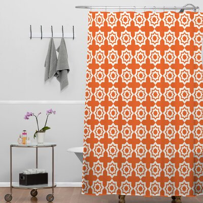 Brousseau Moroccan Mirage Shower Curtain Color: Orange