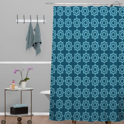 Waynesville Moroccan Mirage Shower Curtain Color: Blue