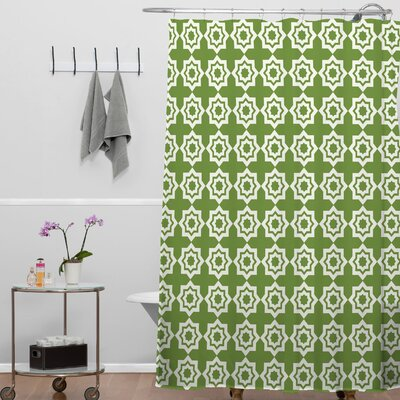 Waynesville Moroccan Mirage Shower Curtain Color: Green