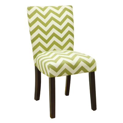 Emerson Chevron Side Chair Upholstery: Green