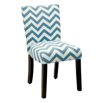 Emerson Chevron Side Chair Upholstery: Blue