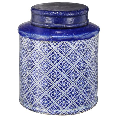 Lidded Decorative Jar Size: 11 H x 9 W x 9 D