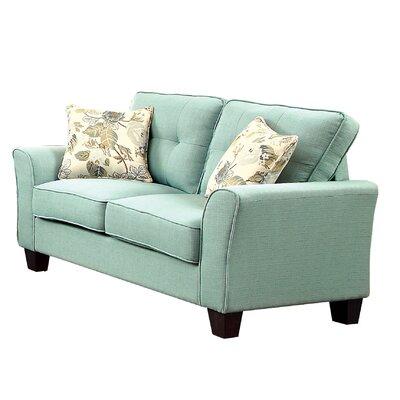 Mcneely Loveseat Upholstery: Blue