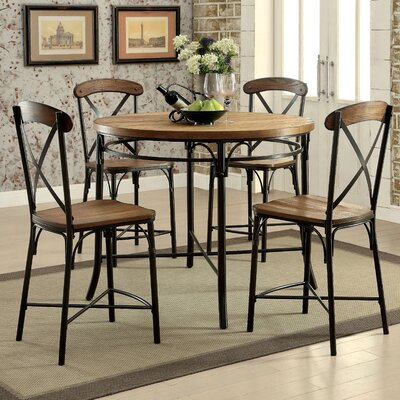 Neeley 5 Pieces Dining Set