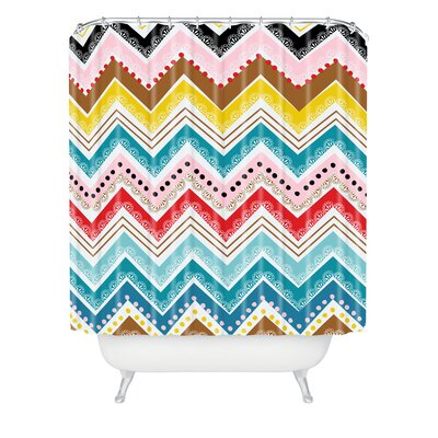 Waynesville Nolita Chevrons Extra Long Shower Curtain