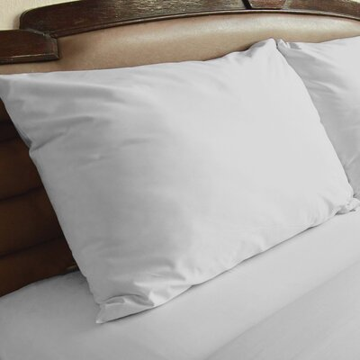 Edington Pillow Case Color: White, Size: King