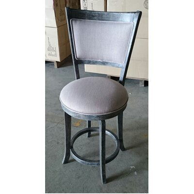 Darby Home Co Topeka 24 Swivel Bar Stool With Cushion Bar Stool
