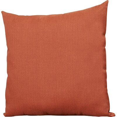 Lacy Throw Pillow Color: Brick, Size: Large