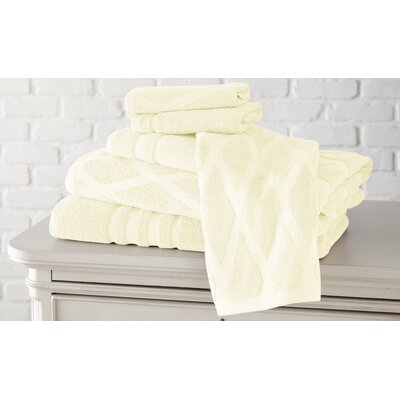 6 Piece Towel Set Color: Ivory